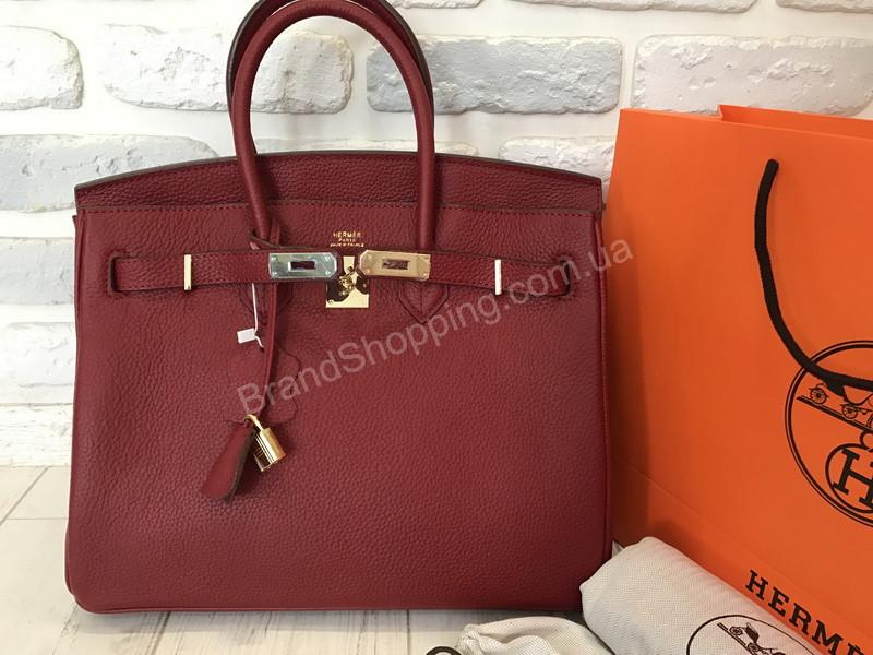 fb11337293a5 Оригинальная женская сумочка (сумка ) Hermes Birkin 35 см в полном  комплекте из натуральной кожи