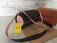 NEW!Сумочка Louis Vuitton exclusive натуральная кожа канва, фото 1