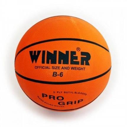 Мяч б/б Winner ORANGE №6, фото 2