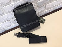Мужская кожаная сумка Armani с длинным плечевым ремнем 1712, фото 1