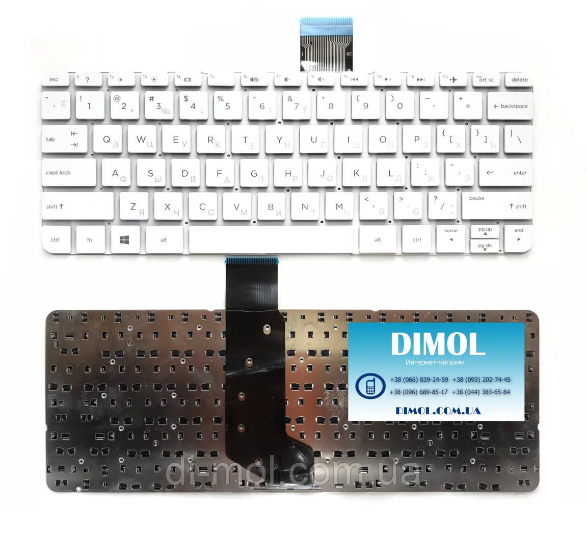 Оригинальная клавиатура для ноутбука HP Stream 11-G, 11-D, 11-P, 11-R series, ru, white