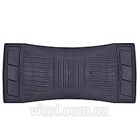 Коврик - перемычка для автомобиля КУ-16212 BK черный, размер: 23х50 см, коврики для салона авто, коврики резиновые авто, ковры автомобильные,