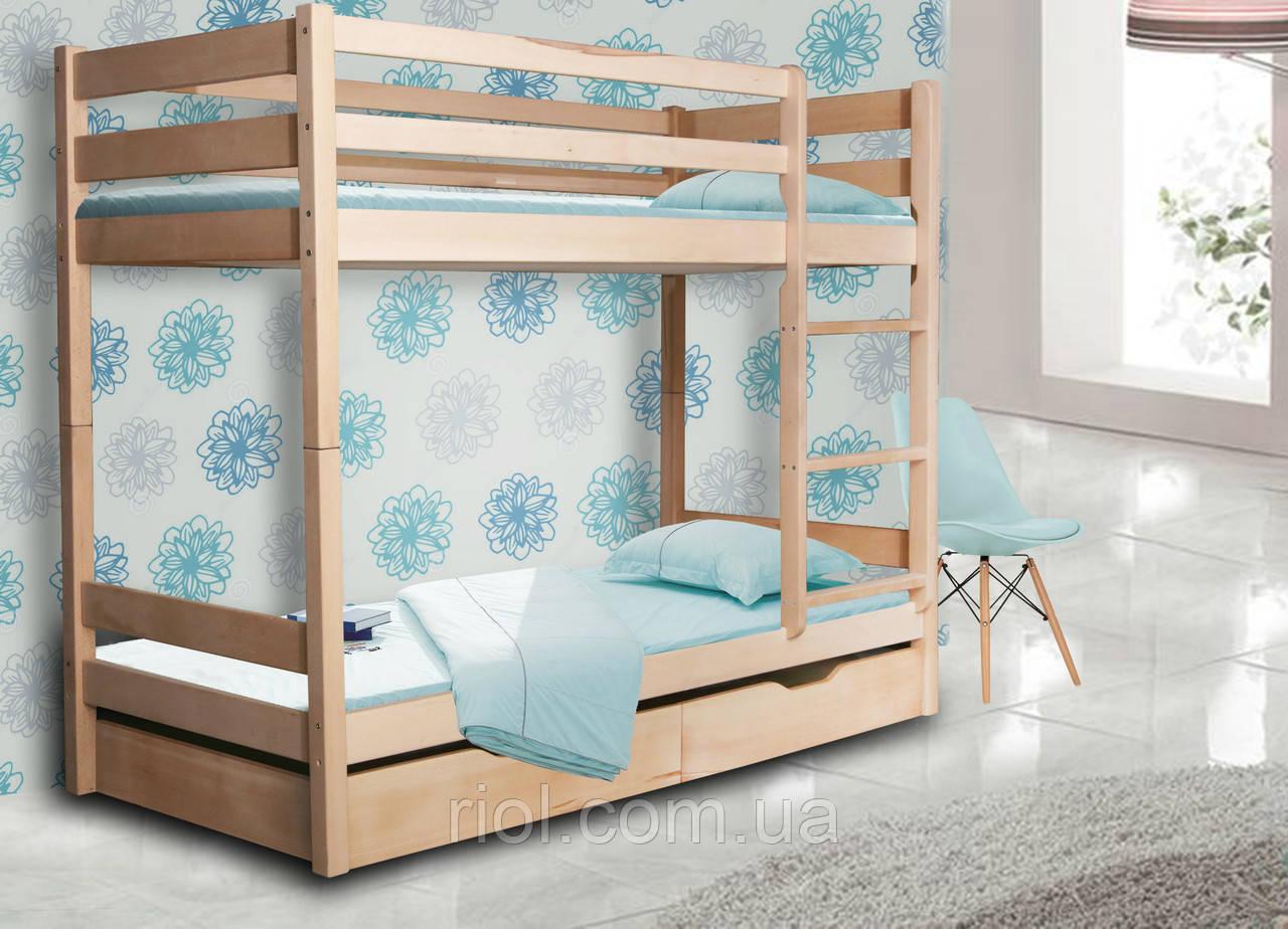 Кровать двухъярусная из массива бука Донни