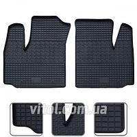 Коврики автомобильные вперед 77512 P/A Fiat Doblo (2001-2010), Lux, в упаковке 2 шт, коврик для Fiat, автоаксессуары, коврик для салона авто