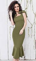 Платье Хаки Весна-Лето 42-44,44-46, фото 1