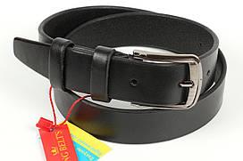 Ремень кожаный брючный King Belts 30 мм гладкий детский