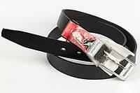 Ремень кожаный брючный King Belts 30 мм гладкий