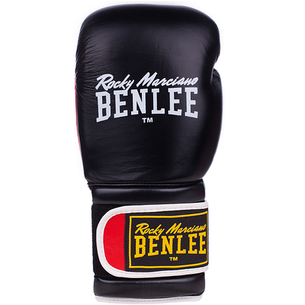 Боксерские перчатки BENLEE SUGAR DELUXE (blk/red), фото 2