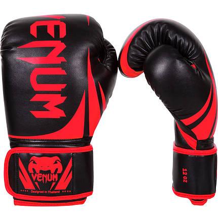 Боксерские перчатки Venum Challenger 2.0 Black/Red, фото 2