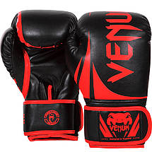 Боксерские перчатки Venum Challenger 2.0 Black/Red, фото 3