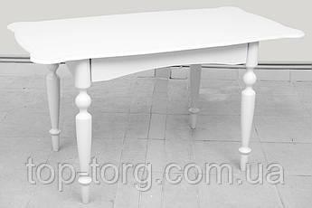Стол обеденный Омега белый 1030(+340)*740мм раскладной