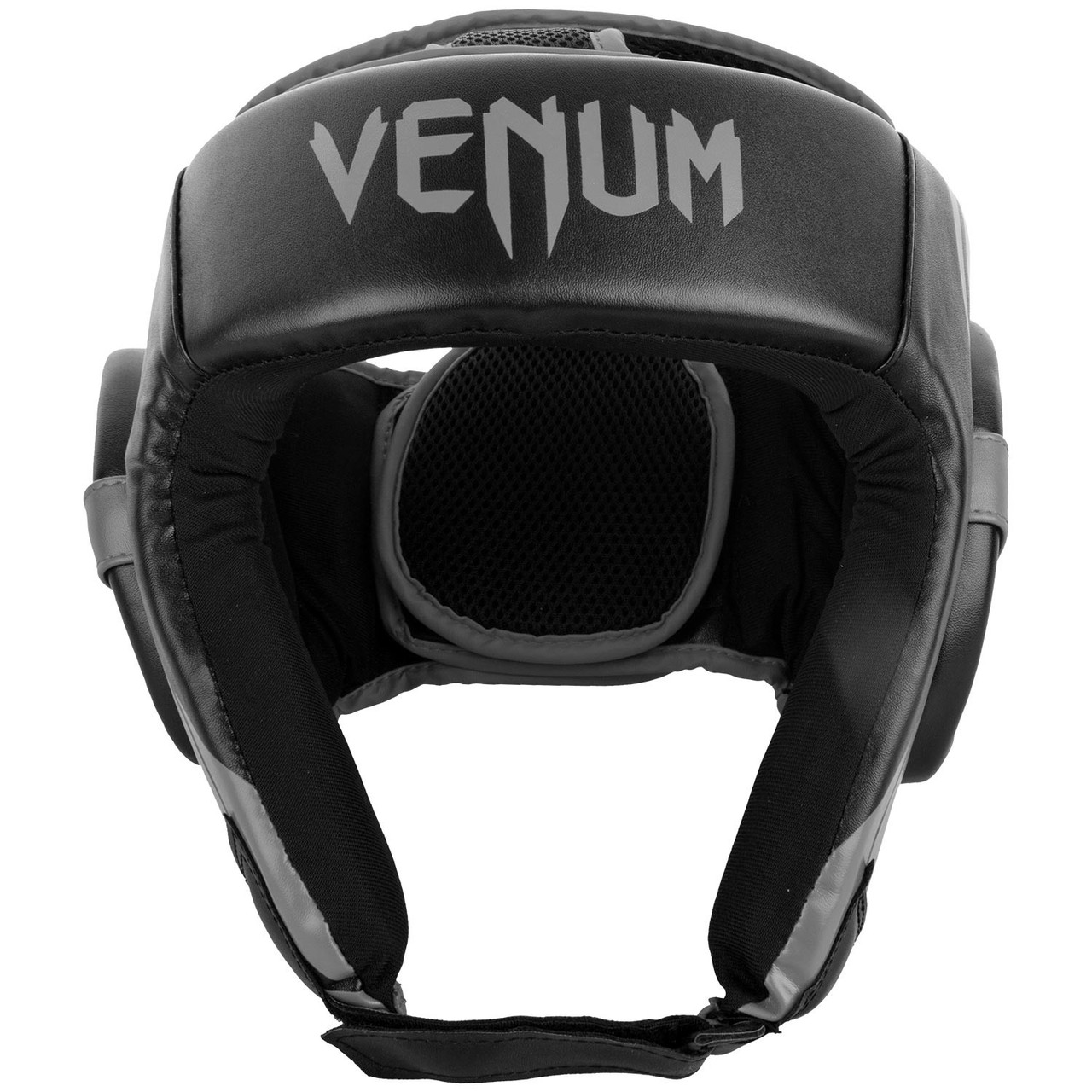 Шлем для бокса Venum Challenger Open Face Headgear Black/Grey