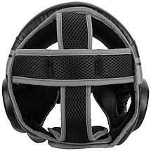 Шлем для бокса Venum Challenger Open Face Headgear Black/Grey, фото 3