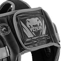 Шлем для бокса Venum Challenger Open Face Headgear Black/Grey, фото 2