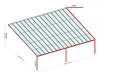 Защита водосточной системы павильона при помощи системы кабельного обогрева 5