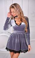 Платье Серое Осень-Зима 42,44,46