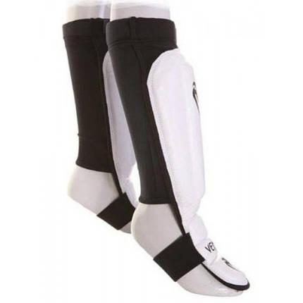 Защита голеностопа Venum 360 MMA Shinguards White, фото 2