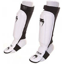 Защита голеностопа Venum 360 MMA Shinguards White, фото 3