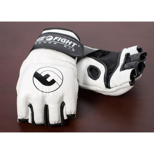 Перчатки MMA Free-Fight Gloves White (4 унции)