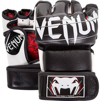Перчатки Venum Undisputed 2.0 MMA Gloves Nappa Leather Black, фото 2