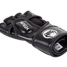 Перчатки для MMA Venum Impact MMA Gloves Skintex Leather Black, фото 3