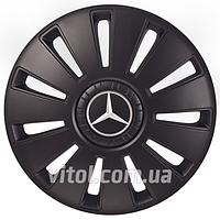 Колпаки на колеса для Mercedes REX-8 черный, 15 дюймов, колпаки на колеса, колпаки автомобильные, колпаки для дисков, автоаксессуары, колпаки, колпак