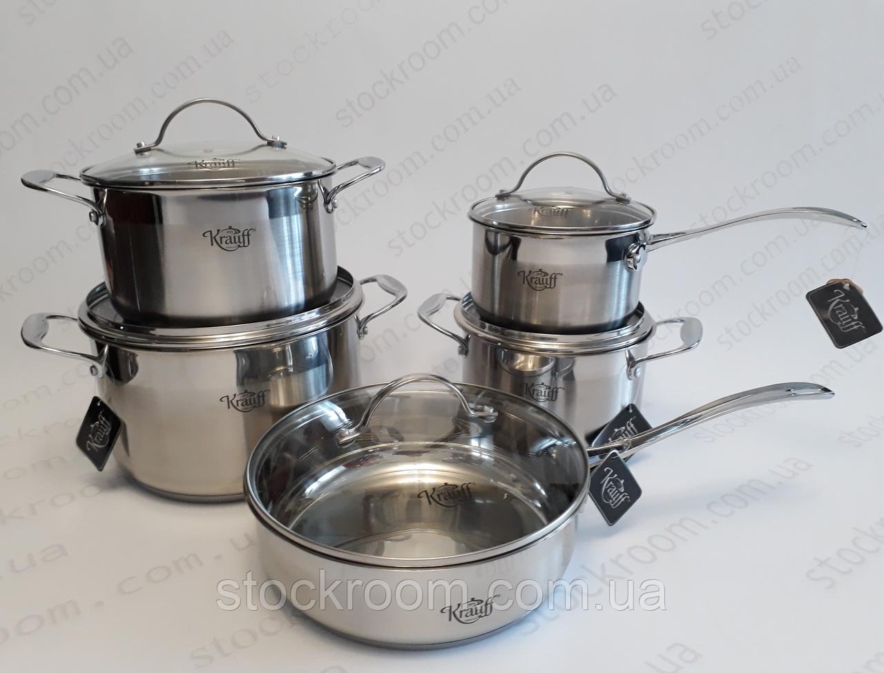 Набор посуды из нержавеющей стали Krauff
