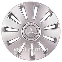 Колпаки на колеса для Mercedes REX-10 серый, 16 дюймов, колпаки на колеса, колпаки автомобильные, колпаки для дисков, автоаксессуары, колпаки, колпак
