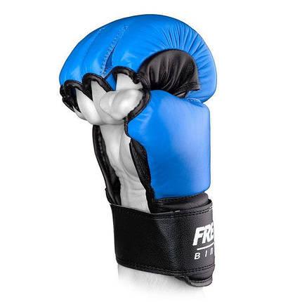 Перчатки ММА Free-Fight Blue, фото 2