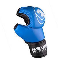 Перчатки ММА Free-Fight Blue, фото 3