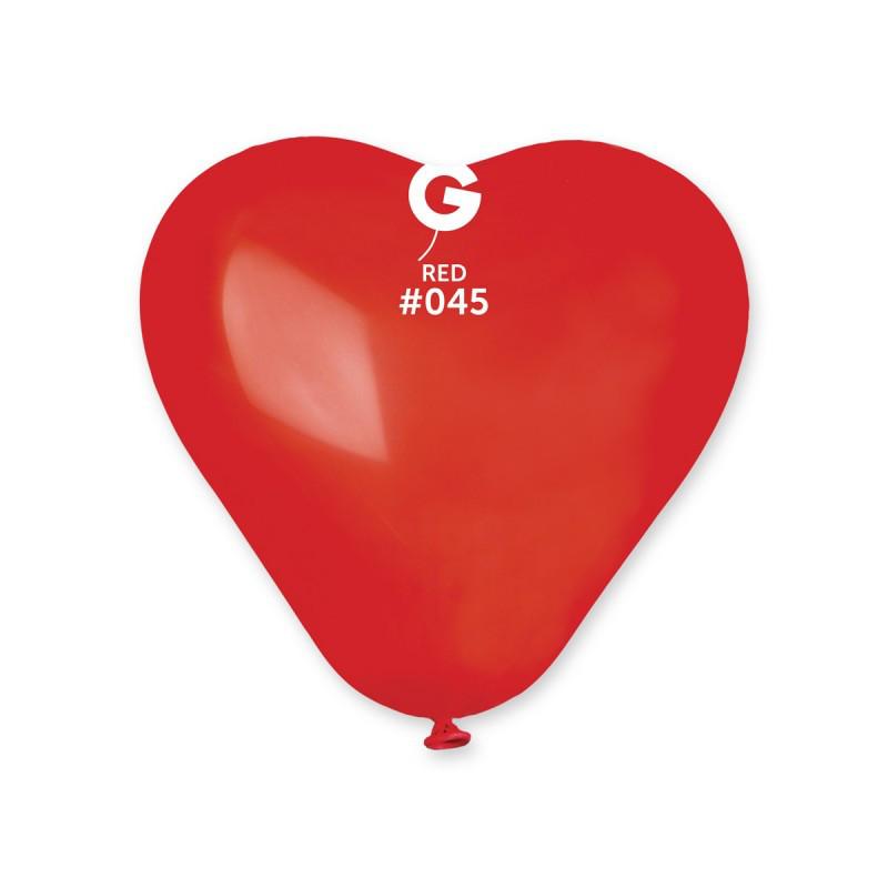 """Сердце 6"""" (15 см) красное пастель. Воздушные шарики латексные в форме сердца оптом"""