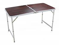 Стол аллюминиевый для пикника на природу стол чемодан коричневый 8812F, фото 1