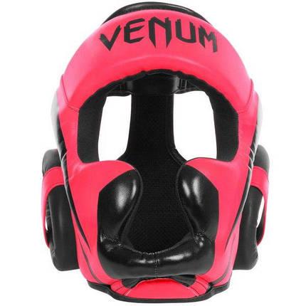 Шлем Venum Elite Headgear Neo Pink, фото 2