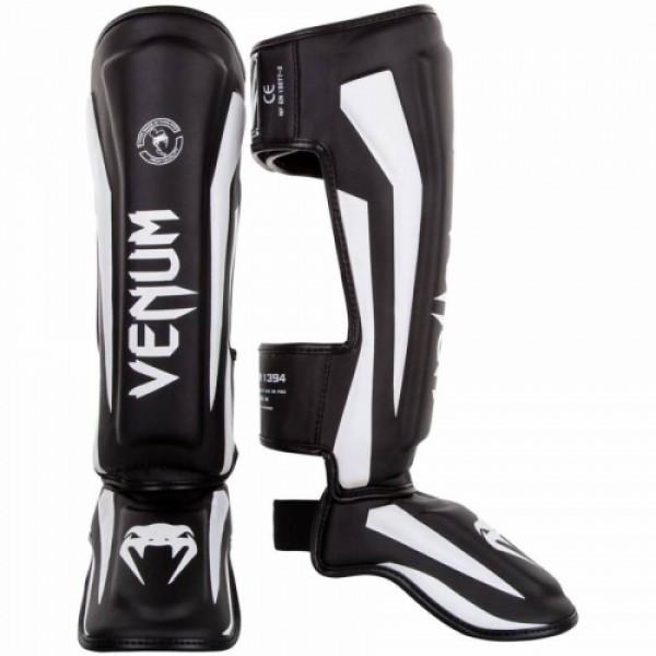 Защита голени Venum Elite Standup Shinguards Black White