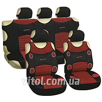 Полный комплект автомобильные майки Milex Racing AG-7249/7 красно-черный, в упаковке 9 шт, авточехлы, чехлы автомобильные, чехлы, чехлы в салон