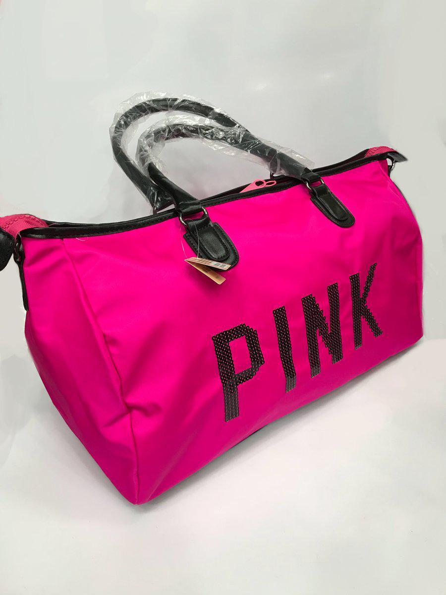 01cb2b092c06 Пляжная сумка Victoria Secret Pink 2900 женская из коттона ручки кожзам  один отдел на молнии копия