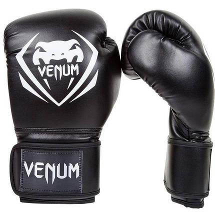 Боксерские перчатки Venum Contender Boxing Gloves Black, фото 2