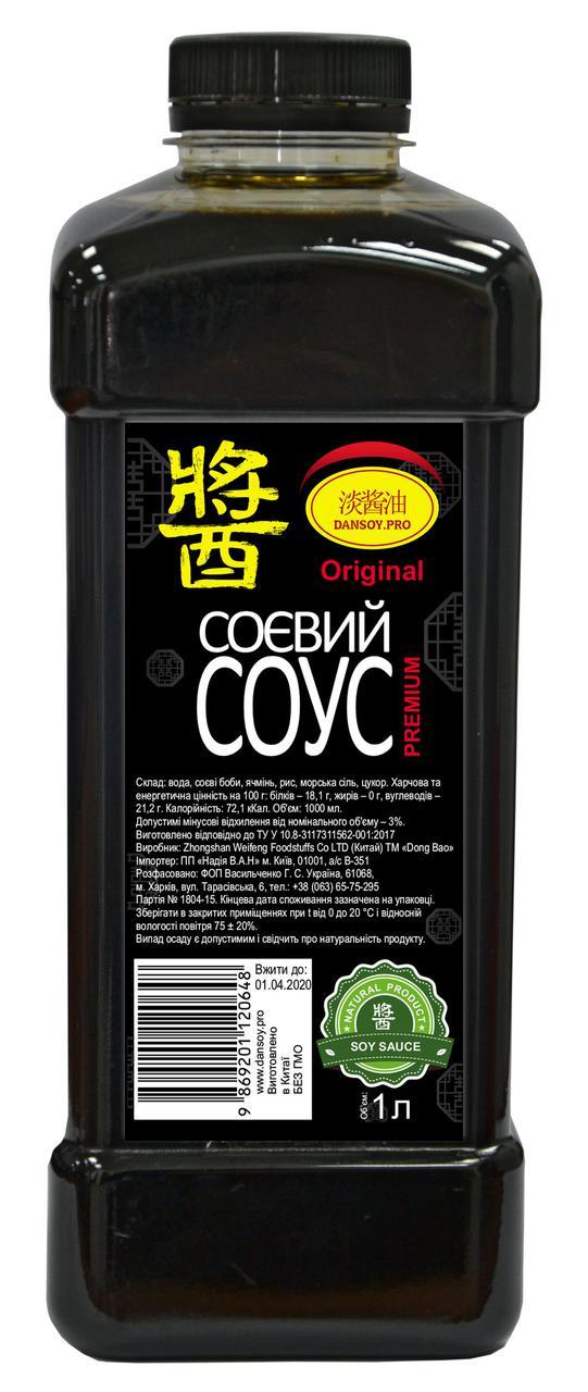 """Соевый соус """"DanSoy"""" Original Premium, бутылка ПЭТ, 1000 мл"""