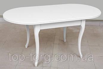Стол обеденный Твист белый 1260(+340)*810мм раскладной