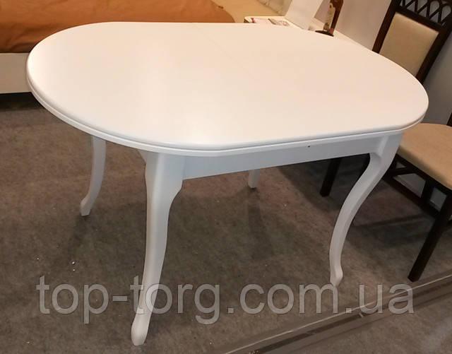 Стіл Твіст Ультра білий овальний розкладний фото. Кухонний білий овальний стіл, обідній