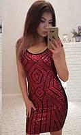 Платье Красное Осень-Зима 42-46, фото 1