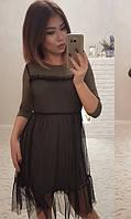 Платье Хаки Осень-Зима 42,44,46, фото 1
