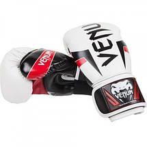 Боксерские перчатки Venum Elite Boxing Gloves White, фото 3