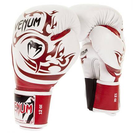 Боксерские перчатки Venum Tribal Boxing Gloves Red White, фото 2