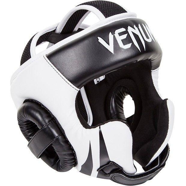 Боксерский шлем Venum Challenger 2.0 Headgear Hook Loop Strap Black Ice
