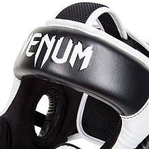 Боксерский шлем Venum Challenger 2.0 Headgear Hook Loop Strap Black Ice, фото 3
