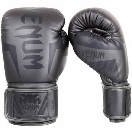 Боксерские перчатки Venum Elite Boxing Gloves Grey, фото 2