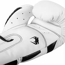 Боксерские перчатки Venum Elite Boxing Gloves White Black, фото 3
