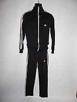 Спортивный костюм мужской Adidas  реплика весна черный раз. M-XXL, фото 1