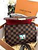 Женская сумочка LOUIS VUITTON CROISETTE коричневая (реплика)